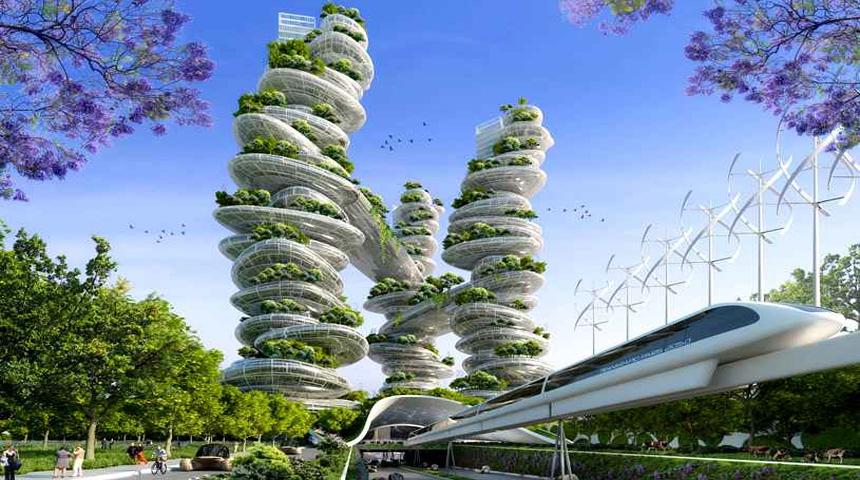 Metropolen van de naaste toekomst for Architecture du futur
