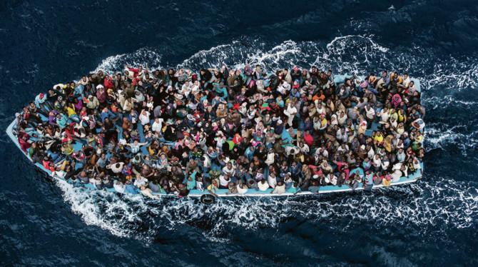vluchtelingen stroom naar europa