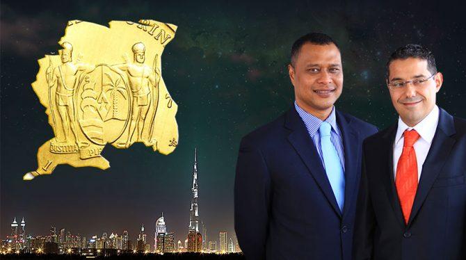 SURINAME KAN MET DUBAI' S GOUD SECTOR MEELIFTEN MITS HET KWIK VRIJ EXPORTEERT