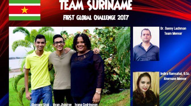 SURINAME NAAR FG ROBOTICS CHALLENGE 2017