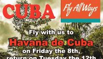 FLY ALWAYS ACTIE| PARAMARIBO CUBA-HAVANA 8 TOT 12 SEPTEMBER