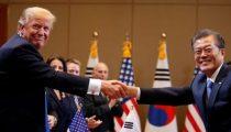 DREIGEMENTEN VAN TRUMP AAN NOORD-KOREA VERANDEREN IN DIPLOMATIEKE ZALVING