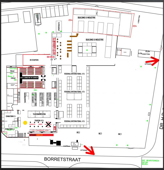 FLOORPLAN FOR 180 EXHIBITORS UCBF 2018