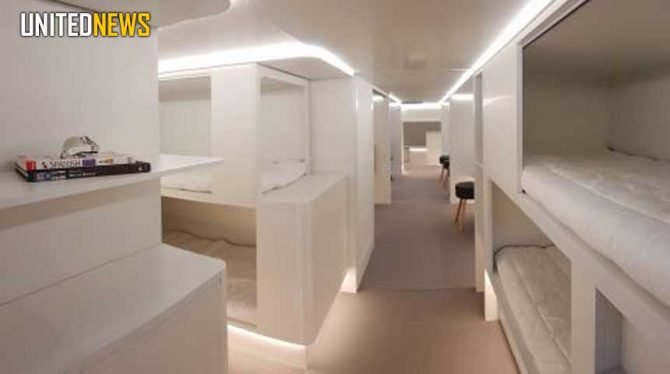 AIRBUS IS TO OFFER FLIERS THE CHANCE TO CATCH SOME MILE-HIGH SLEEP BY FITTING SLEEPING BERTHS IN ITS AIRLINERS' CARGO DECKS.