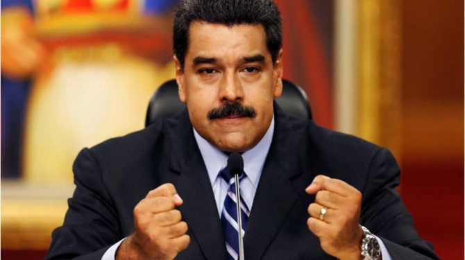 BOZE MADURO: SANCTIES VS BELEDIGING VOOR VENEZUELA