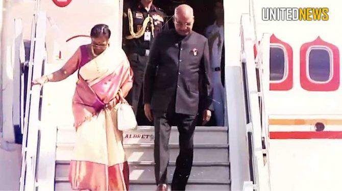 PRESIDENT INDIA ONDERWEG NAAR SURINAME/ INDIRA GANDHIWEG WORDT AFGEZET